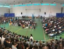 Students gather for the opening of the school year